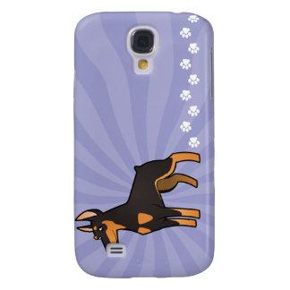 Cartoon Doberman Pinscher (pointy ears) Samsung Galaxy S4 Case