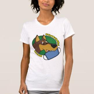 Cartoon Doberman Schutzhund Ladies Tshirts