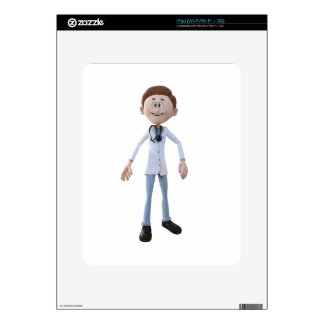 Cartoon Doctor iPad Decals