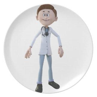 Cartoon Doctor Plate