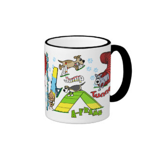 Cartoon Dog Agility Mugs
