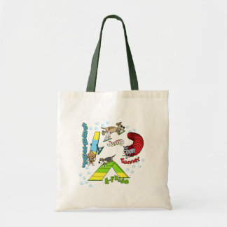Cartoon Dog Agility Tote Bag