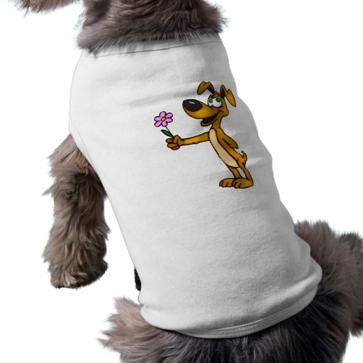 Cartoon Dog and Flower Gift Dog Clothes