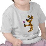 Cartoon Dog and Flower Gift Shirt