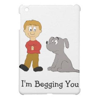 Cartoon Dog And Owner iPad Mini Cover