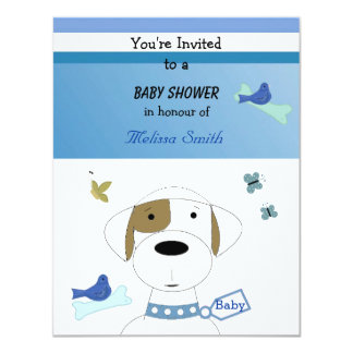 Cartoon Dog Baby Shower Custom Invites