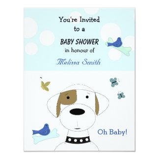 Cartoon Dog Baby Shower Invitations