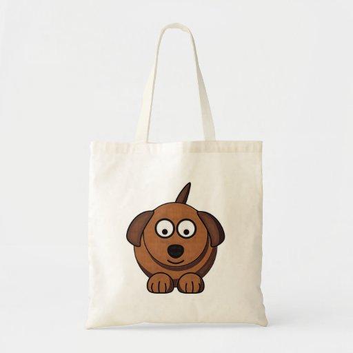Cartoon Dog Bag Budget Tote Bag