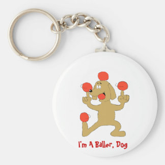 Cartoon Dog Balancing Balls Keychain