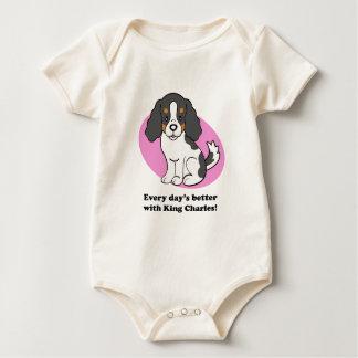 Cartoon Dog Cavalier King Charles Baby Tee