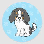 Cartoon Dog Cavalier King Charles Sticker