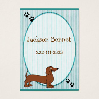 Cartoon Dog Children's Calling Card