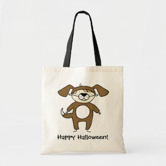 Cartoon dog customizable trick or treat bag