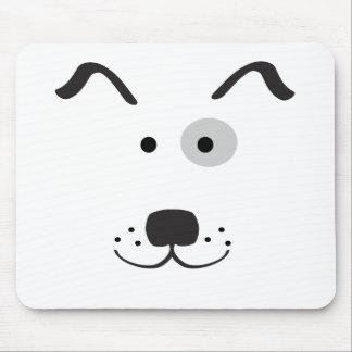 Cartoon Dog Face Illustration Mouse Pad