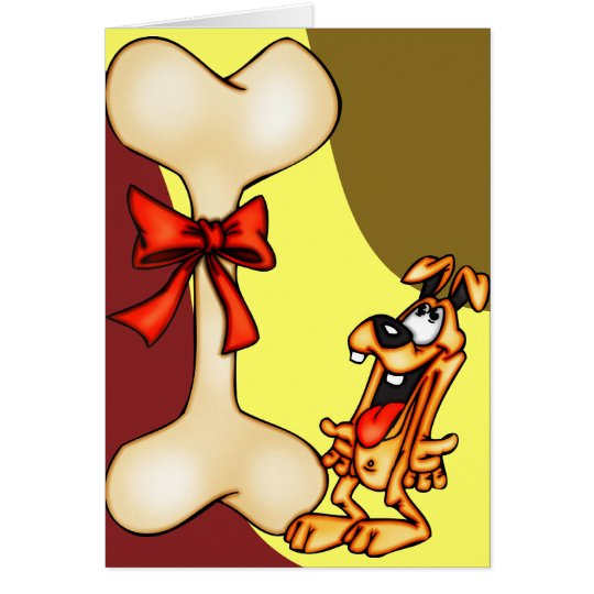 Cartoon Dog Get Big Bone Gift Card