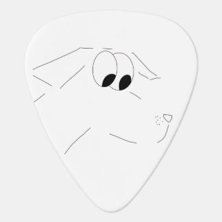 Cartoon dog guitar pick