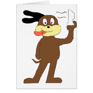 Cartoon Dog Hip Hop Nelly Fan Greeting Card