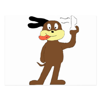 Cartoon Dog Hip Hop Nelly Fan Postcard