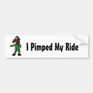 Cartoon Dog In Green Suit Bumper Sticker