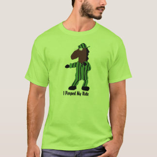 Cartoon Dog In Green Suit T-Shirt