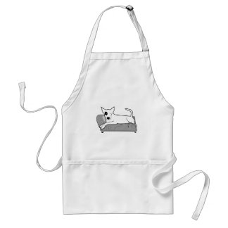 Cartoon Dog on Couch Adult Apron