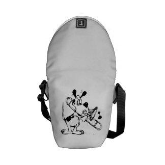 Cartoon Dog Playing a Trombone Messenger Bag
