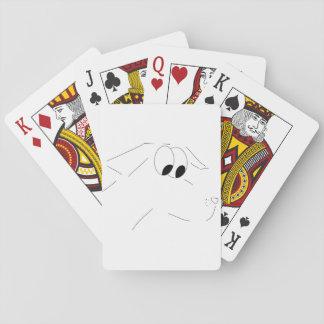 Cartoon dog playing cards
