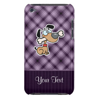 Cartoon Dog; Purple Barely There iPod Case