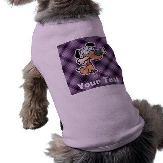Cartoon Dog; Purple Tee