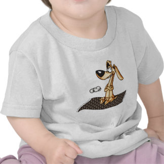 Cartoon Dog Riding Magic Carpet Shirt