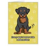 Cartoon Dog Rottweiler Greeting Card