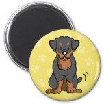 Cartoon Dog Rottweiler Magnet
