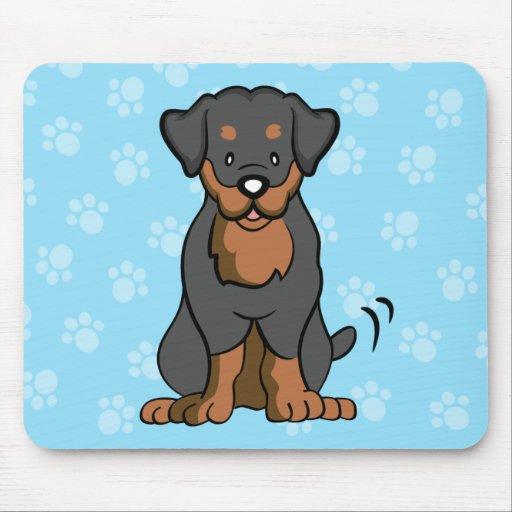 Cartoon Dog Rottweiler Mousepad