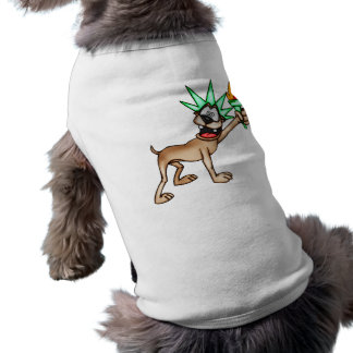 Cartoon Dog Statue Of Liberty Tee