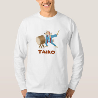 Cartoon Dog Taiko Player Taiko Drumming T Shirt