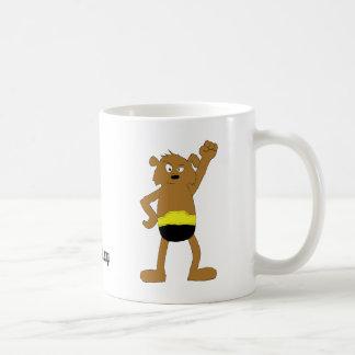 Cartoon Dog The Rock Wrestling Fan Classic White Coffee Mug