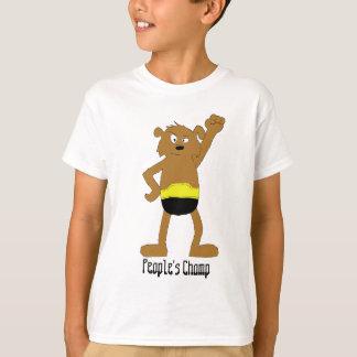 Cartoon Dog The Rock Wrestling Fan T-Shirt