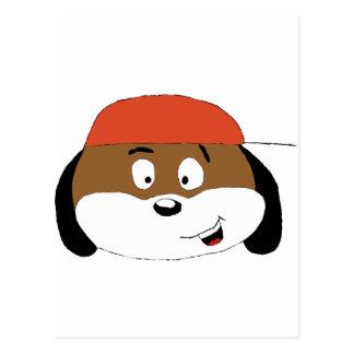 Cartoon Dog With Baseball Cap Postcard