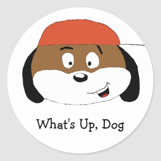 Cartoon Dog With Baseball Cap Stickers