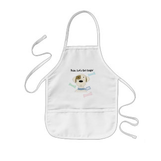 Cartoon Dog with Fun Saying Kids' Apron