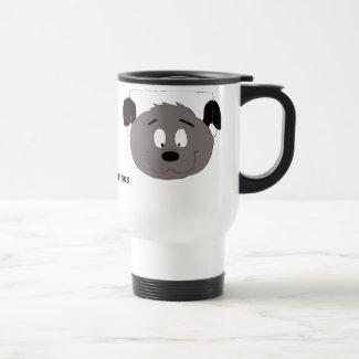 Cartoon Dog With Headphones Travel Mug
