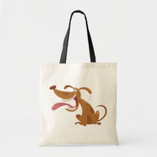 Cartoon Dog With Tongue Out Tote Bag