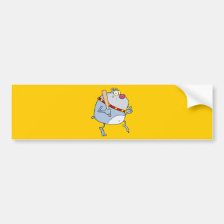 cartoon doggy gangster.png FUNNY SNEAKING graphic Bumper Sticker