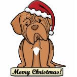Cartoon Dogue de Bordeaux Christmas Ornament Photo Cut Outs