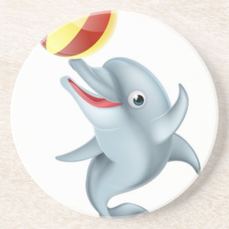 Cartoon Dolphin Playing with Ball Coaster