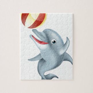 Cartoon Dolphin Playing with Ball Jigsaw Puzzle