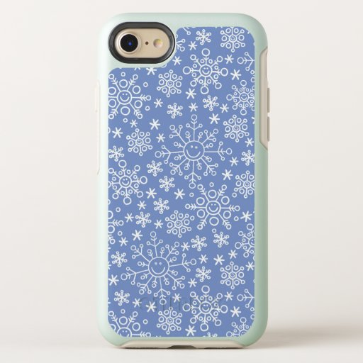 Cartoon Doodle Winter Snowflakes OtterBox Symmetry iPhone SE/8/7 Case