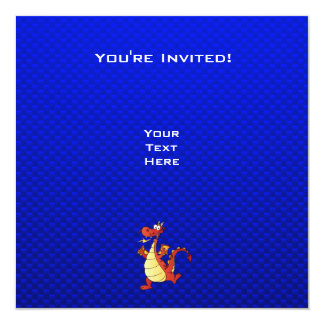 Cartoon Dragon; Blue Card