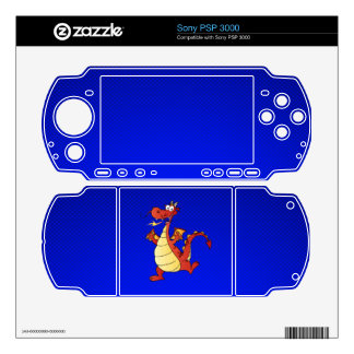 Cartoon Dragon; Blue PSP 3000 Skins