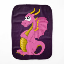 Cartoon dragon Burp Cloth